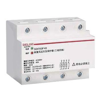 德力西DELIXI 过欠压保护器 DZ47GQF 3P+N 63A 400VAC DZ47GQF63663 自复式