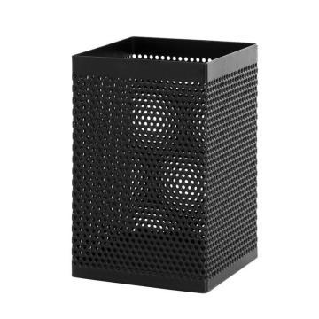 得力 筆筒,方形網狀 908(黑) 單個