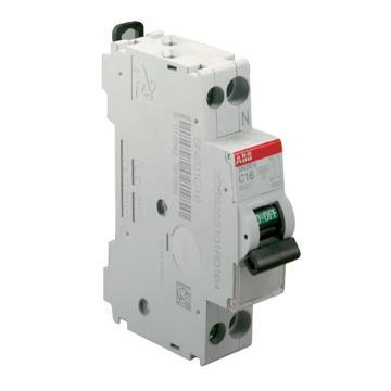 ABB 微型断路器 SN201 1P+N 4A C型 SN201L-C4