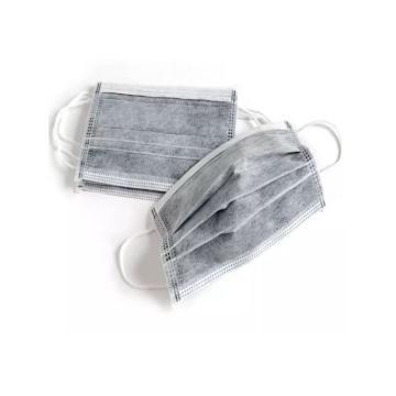 来安之一次性四层无纺布活性炭口罩,灰色,50只/盒