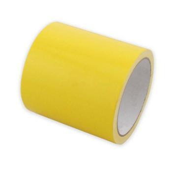 地板划线胶带(黄)-高性能自粘性PVC材料,黄色,100mm×22m,14329