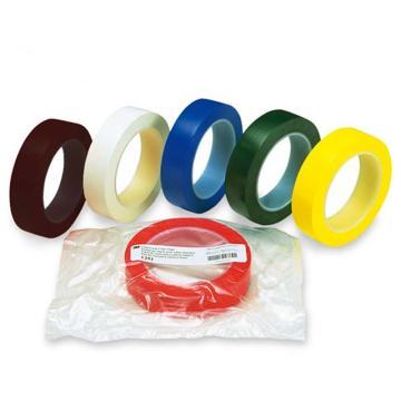 安赛瑞 桌面定位划线胶带,高性能自粘性PVC材料,25mm×66m,红色,14419