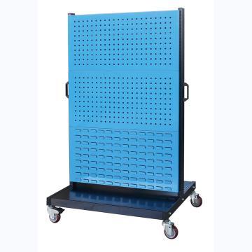 信高 移动型双面物料整理架(4方孔2百叶),960*640*1605mm,KM-2342,散件发货,安装费另询