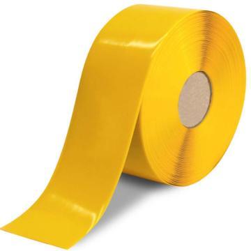 安赛瑞 重载型划线胶带,1mm厚PVC基材,100mm×30m,黄色,15101