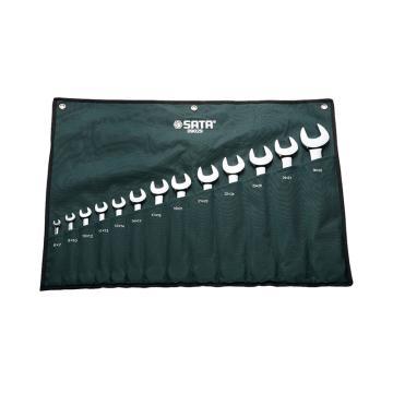 世达SATA 开口扳手套装呆扳手套装双开口扳手套装,13件套,09029