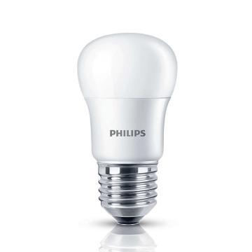 飛利浦 6.5W LED小球泡 LED燈泡,E27 3000K 黃光,單位:個