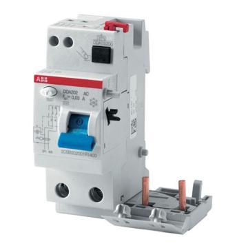 ABB 微型漏电保护附件,电磁式 A型瞬动型,DDA202 A-63/0.1