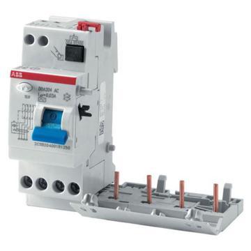 ABB 微型漏电保护附件,电磁式 A型瞬动型,DDA204 A-25/0.1