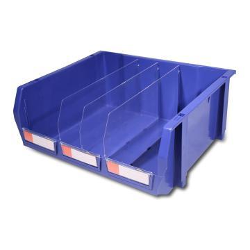 力王组立/背挂/分隔零件盒,420*370*175mm,全新料,4个/箱,不含分隔片,PK-010-蓝色