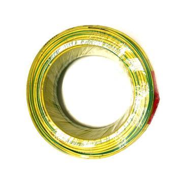 沪安 阻燃单芯软电线,ZR-BVR-6mm² 黄绿,95m/卷