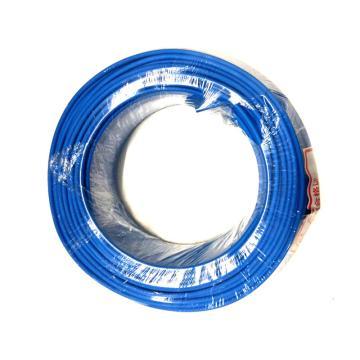 沪安 阻燃单芯软电线,ZR-BVR-6mm² 蓝 95m/卷