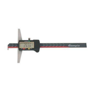 广陆 单钩头数显深度卡尺,0-150mm,123-101-1,不含第三方检测
