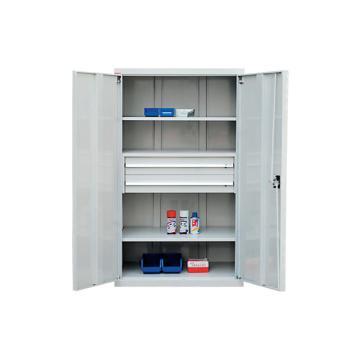 2层层板铁门型置物柜, 1000W*600D*1800H