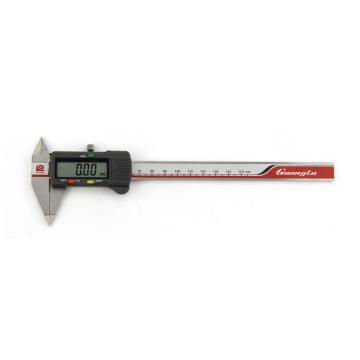 广陆 细尖爪数显卡尺,0-150mm