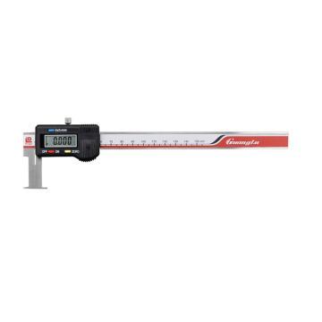 广陆 内沟槽数显卡尺,22-150mm(扁头)