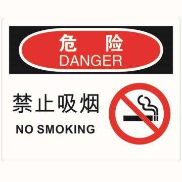 安赛瑞 OSHA危险标识-禁止吸烟,ABS板,250×315mm,31714