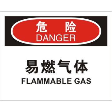 安赛瑞 OSHA危险标识-易燃气体,不干胶材质,250×315mm,31216