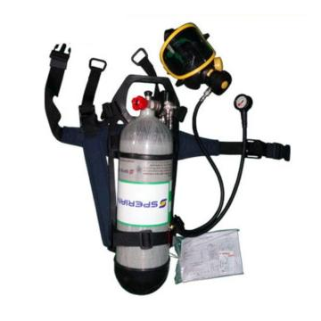 霍尼韦尔Honeywell 空气呼吸器,SCBA805,T8000标准呼吸器 6.8L luxfer气瓶 PANO面罩