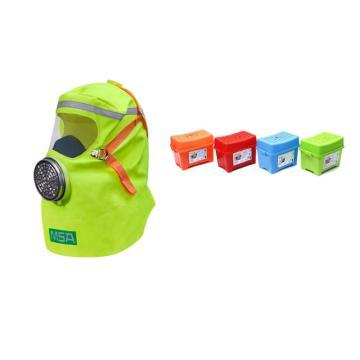 MSA 10156096 S-CAP 消防自救呼吸器,家庭装,3个/箱,蓝色包装箱
