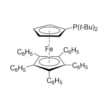 CAS:312959-24-3|1,2,3,4,5-戊苯基-1'-(二叔丁基磷基)二茂铁|95%|600386-100mg