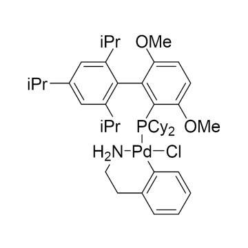CAS:1148148-01-9|氯(2-二环己基膦基-3,6-二甲氧基-2',4',6'-三异丙基-1,1'-联苯)[2-(2-氨基乙基苯基)]钯(II)|98%|600110-100mg