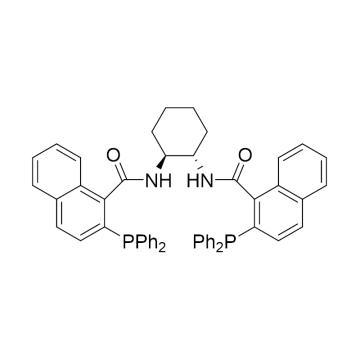 CAS:205495-66-5|(1S,2S)-(-)-N,N'-双(2-二苯基膦基-1-萘酰基)-1,2-环己二胺|94%|600380-100mg