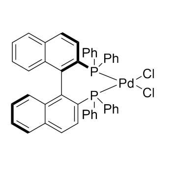 CAS:115826-95-4|[(R)-(+)-2,2'-双(二苯基膦)-1,1'-联萘]二氯化钯|98%|600088-250mg