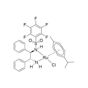 CAS:1026995-71-0|氯{[(1R,2R)-(-)-2-氨基-1,2-二苯基乙基](五氟苯磺酰)氨基}(对伞花烃)钌(II)|90%|600227-1g