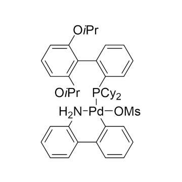 CAS:1445085-77-7|甲磺酸(2-二环己基膦基-2',6'-二异丙氧基-1,1'-联苯基)(2-氨基-1,1'-联苯-2-基)钯(II)|98%|600735-250mg