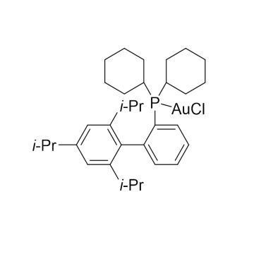 CAS:854045-94-6|氯[2-二环己基(2′,4′,6′-三异丙基联苯基)膦]金(I)|98%|600029-250mg