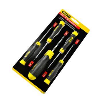史丹利花型螺丝批套装,五件套胶柄(T5,6,8,10,15),65-155-0-23