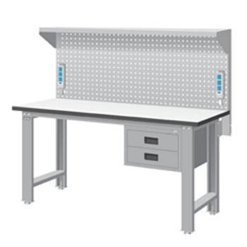 天钢 标准型工作桌,高H*宽W*深D(mm):1407*1500*785,耐磨桌板,带挂板,桌面平均承重(kg):500,WBS-53021F15,不含安装费,安装费请另询
