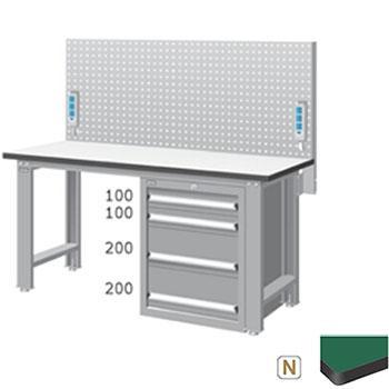 天钢 标准型工作桌,宽深高(mm):1407*1500*785 带挂板 承重(kg):500,WBS-57041N14 不含安装费
