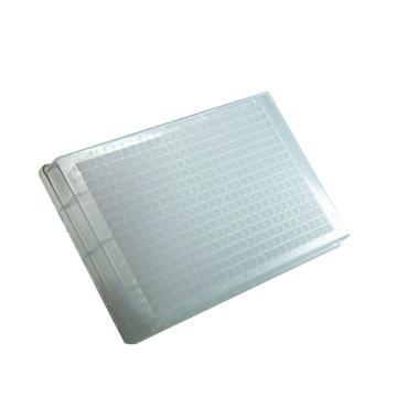 384孔深孔板,方形孔,V型,透明,120ul,10板/袋