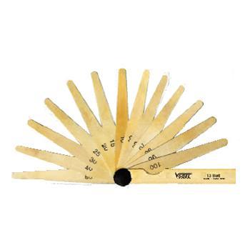 VOGEL 塞尺,20Pcs0.05-1mm,(铜),41 4107
