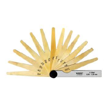 VOGEL 塞尺,20Pcs0.05-1mm,(铜),41 4007