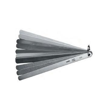 "VOGEL 不锈钢塞尺,0.05-1mm/0.002-0.04""(13片),200mm"