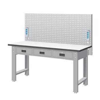 天钢 标准型工作桌,宽深高(mm):1407*1500*785 带挂板 承重(kg):500,WBT-5203F14 不含安装费
