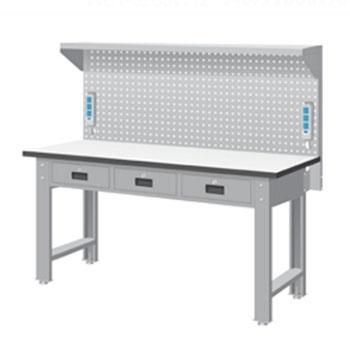 天钢 标准型工作桌,宽深高(mm):1407*1500*785 带挂板 承重(kg):500,WBT-5203F15 不含安装费
