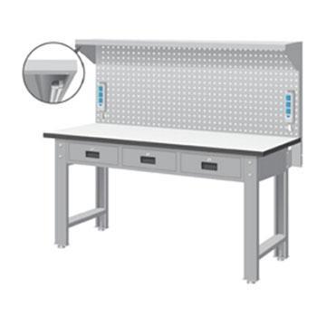 天钢 标准型工作桌,宽深高(mm):1407*1500*785 带挂板 承重(kg):500,WBT-5203F16 不含安装费