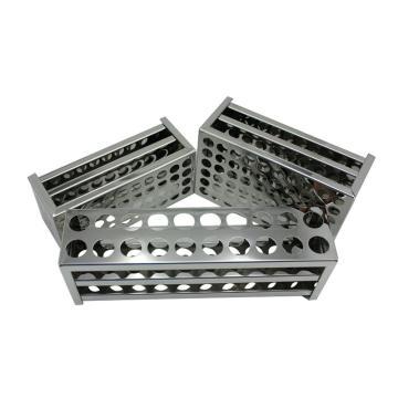 不锈钢试管架(康氏),30孔,14mm孔径,192×66×70mm,1只