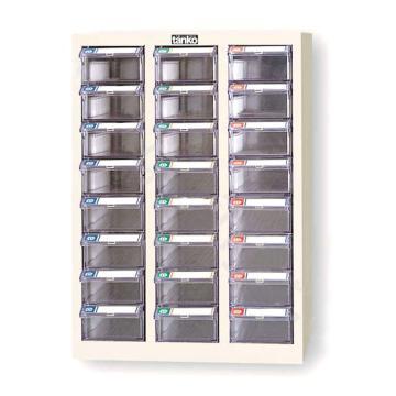 天鋼 零件盒儲存柜,H720×W458×D243mm,24個透明盒