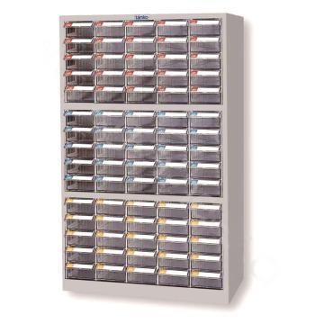 天钢 零件盒储存柜,H880×W580×D230mm,75个透明盒,木箱包装