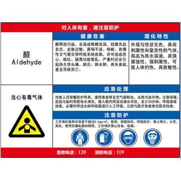 职业病危害告知卡(醛)-ABS板,600×450mm,14597
