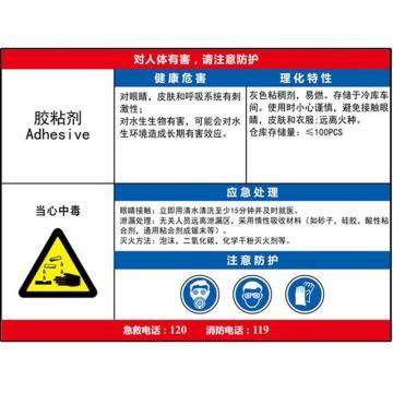 职业病危害告知卡(胶黏剂)-ABS板,600×450mm,14584