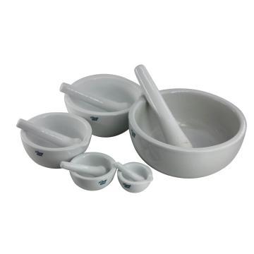 陶瓷乳钵,带研磨棒,不带底座,100×60×45mm,1套