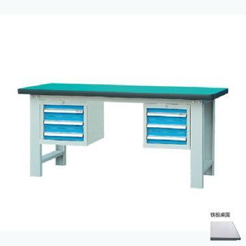 锐德 50mm铁板桌面双吊3抽柜重型工作桌, 2100W*750D*800H 载重:1000kg,不含安装费,安装费请另询