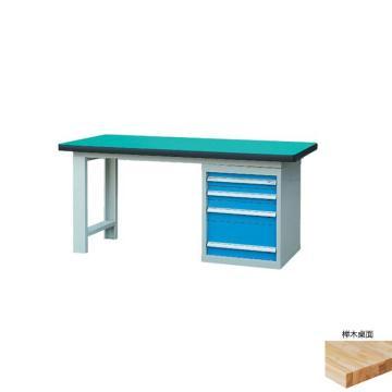 锐德 50mm榉木桌面单侧4抽柜重型工作桌, 1500W*750D*800H 载重:1000kg,不含安装费,安装费请另询