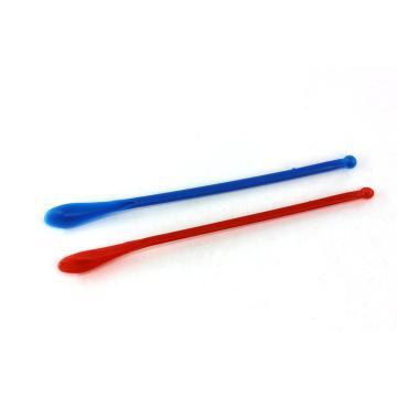 聚丙烯塑料药勺,双勺头,蓝色,195mm,50个/包