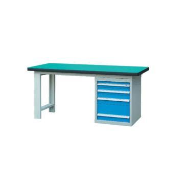 锐德 50mm复合桌面单侧4抽柜重型工作桌, 2100W*750D*800H 载重:1000kg,不含安装费,安装费请另询